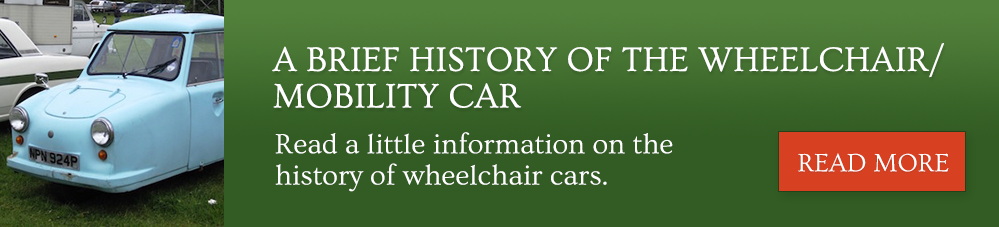 A brief history of the wheelchair / mobility car