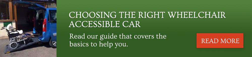 How to choose the right wheelchair accessible car
